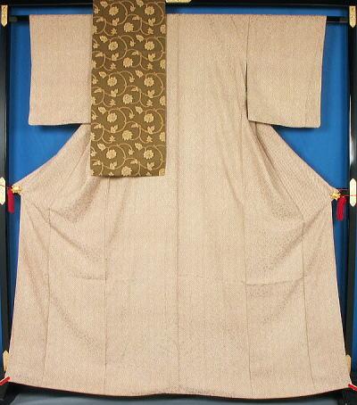 疋田風詰め模様の小紋と名古屋帯のセット